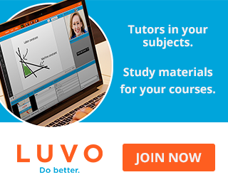 Picture of laptop. Tutors in your subjects. Study materials for your courses. LUVO, Do better. Click to join now.