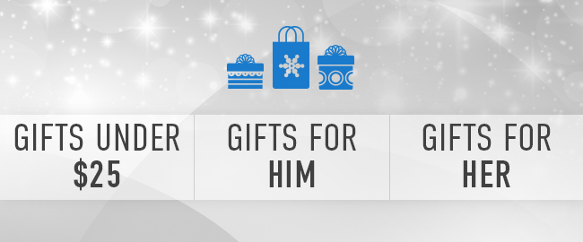 Picture of presents. Gifts under $25 | Gifts for him | Gifts for her