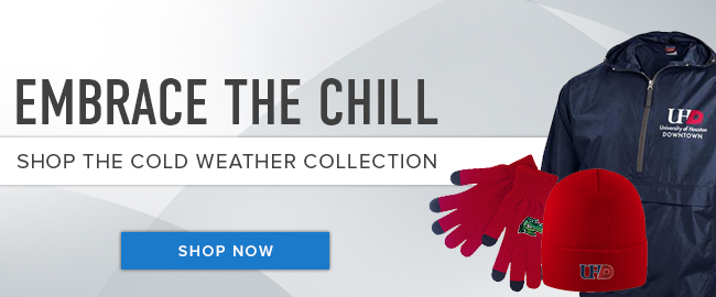 Picture of Winter clothing. Embrace the chill. Shop the Cold Weather Collection. Click to shop now.