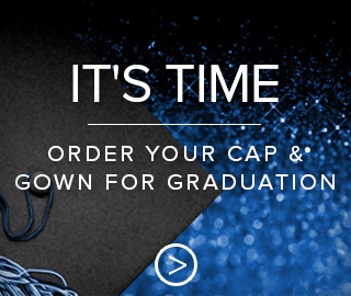 Picture of graduation cap. It's time. Click to order your cap and gown for graduation.